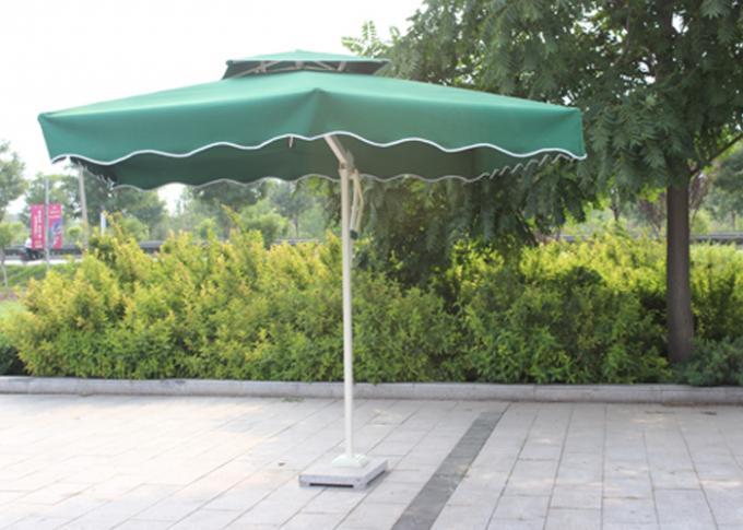 Large Rectangular Outdoor Patio Umbrella For Red Color Backyard Umbrella