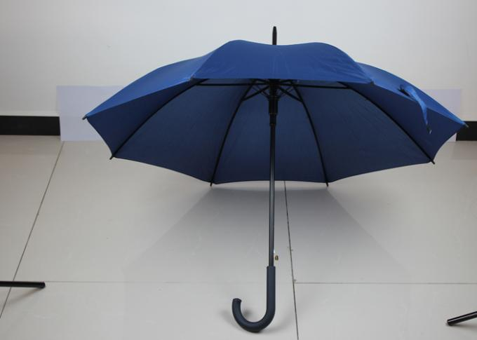Custom Branded Promotional Golf Umbrellas With 190T Pongee Fabric , Curved Handle