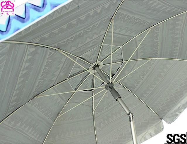 6FT 1.8m Patio Custom Portable Travel Beach Sun Umbrella Shelter With Powder Coated Frame