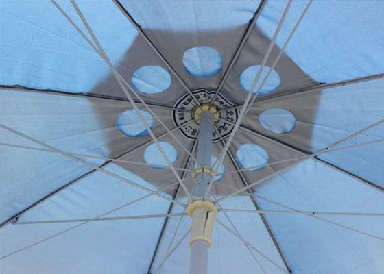 Custom Logo Round Outdoor Umbrella , Outdoor Sun Umbrella For Garden With Fringe