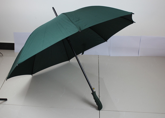 Custom Green Auto Open Close Golf Umbrella With Transfer Printing Logo