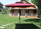 Easy Open Leisure Roma Cantilever Parasol Outdoor Luxury With Double Tops