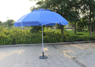 Waterproof Movable Round Outdoor Umbrella , Blue Outdoor Market Umbrella