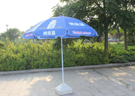 China Easy Open Slogan Round Outdoor Umbrella , Strong Colorful Beach Umbrellas company