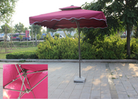 Suspended Rectangular Outdoor Umbrella Bali Style Digital Printed For Villa