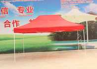 Red Steel Frame Advertising Canopy Tents 3x4.5m With 500D Oxford Fabric