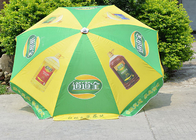 Road Side Custom Logo Beach Umbrella Parasols , Folding Uv Protection Umbrella
