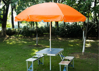 China Large Waterproof Garden Umbrella With Table With 210D High Density Oxford Fabric company