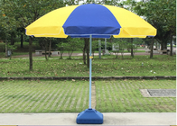 China Strong Designed Outdoor Sun Beach Umbrellas With White Powder Coated Shaft company