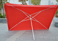 China Commercial Square Outdoor Umbrella Parasol , 2.7 M Garden Parasol With Logo Print company
