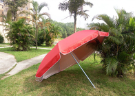 Red Outdoor Advertising Umbrellas With 420D Polyester Fabric , Water Tank Base