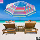 210D Oxford Fabric Waterproof Parasol Umbrella With Aluminum Handle 1.8-3m