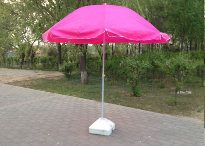Rose Pink Outdoor Parasol Umbrella , Promotion Advertising Sun Garden  Parasol