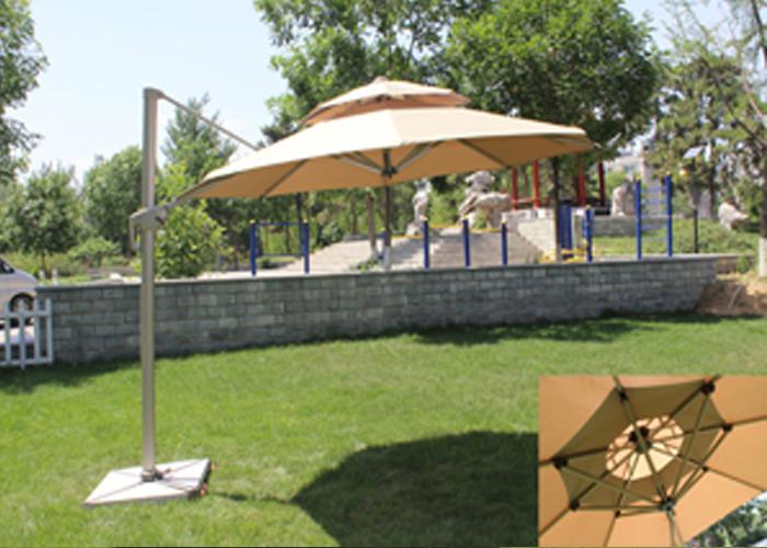 Classic Round Top Starbucks Patio Umbrella For Outdoor Garden Furniture