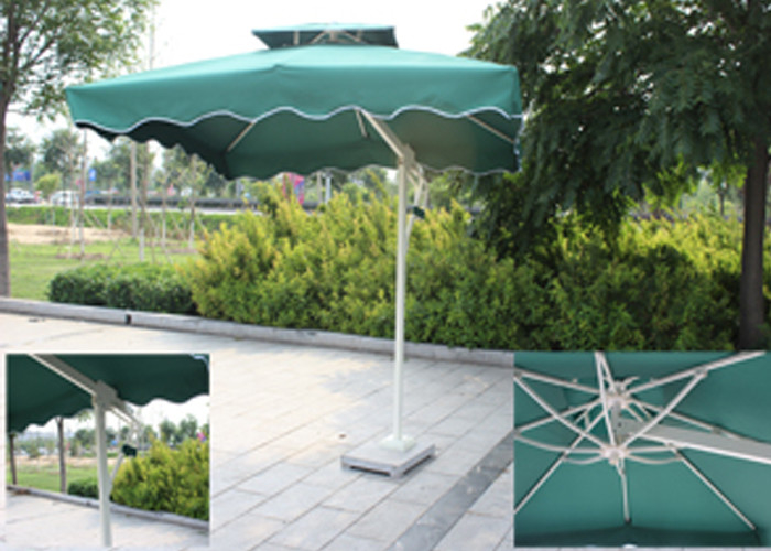 Backyard Small Rectangular Patio Umbrella , Square Offset Umbrella Sunlight  Proof