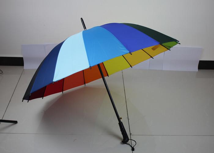 1caa7ee1c1d16 Lightweight Rainbow Golf Umbrella For Rain , Wind Resistant Golf Umbrella