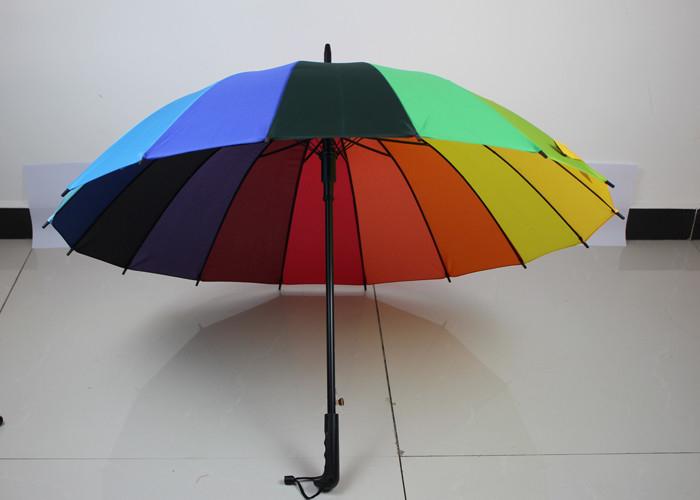 67b4b7567044 Lightweight Rainbow Golf Umbrella For Rain , Wind Resistant Golf ...
