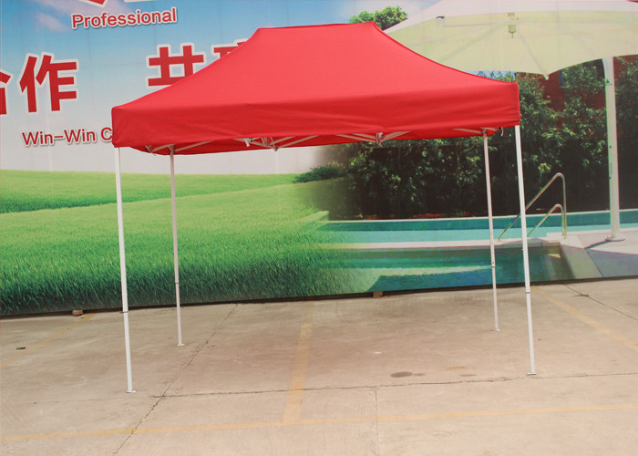 Aluminum Frame Pop Up Market Tent Heat Transfer Print For Promotional Display