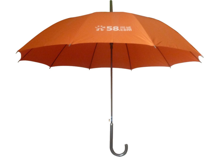 Steel Frame Business Logo Umbrellas , Windproof Golf Umbrella Uv Protection