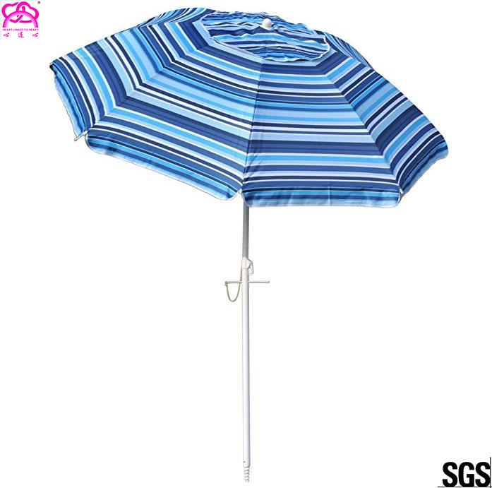 2568e9a5db1f Windproof Folding Sun Beach Umbrella With Vented Tilt Telescoping Pole  Adjustable