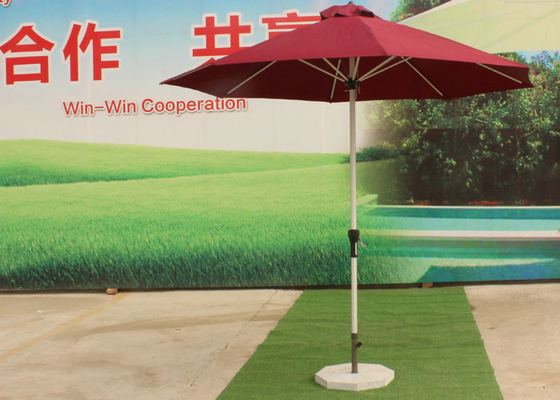 China 3.0 M Red Big Outdoor Umbrella , Round Patio Umbrella Parasol For Garden factory