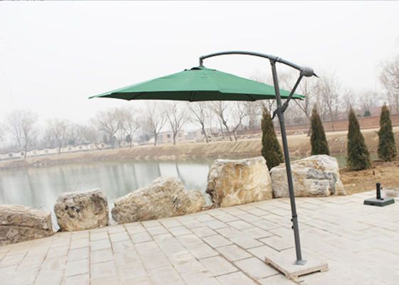 300cm Cantilever Hanging Patio Umbrella / Offset Patio Umbrella With Base