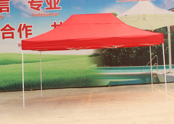 Red Steel Frame Advertising Canopy Tents 3x4.5m With 500D Oxford Fabric & Pop Up Market Tent on sales - Quality Pop Up Market Tent supplier