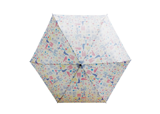 50cm X 8K 3 Section Manual Open Umbrella / Ladies Fashion Lightweight Compact Umbrella