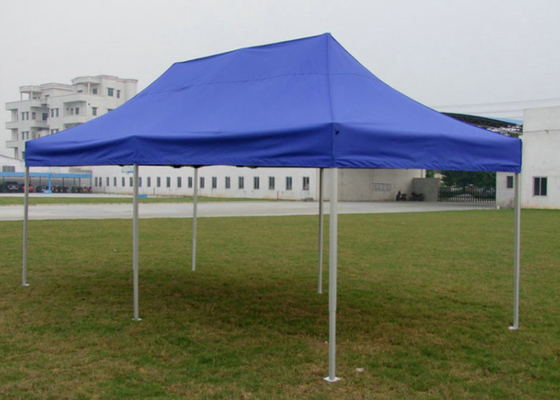 China Diamond Blue Canvas Pop Up Gazebo 3x6 , Portable 3m X 6m Waterproof Gazebo Tent factory