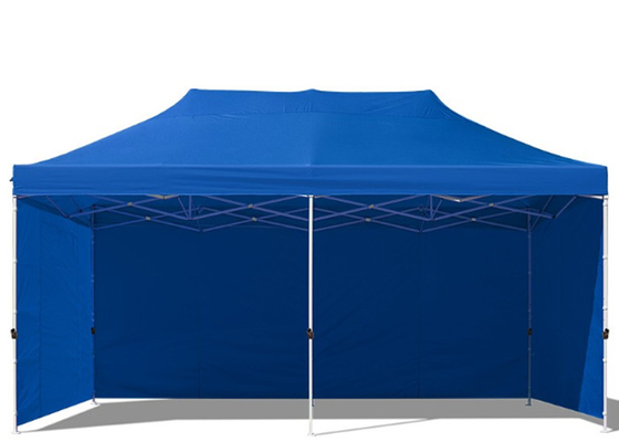 China Digital Print 3m X 6m Pop Up Gazebo With Sides , Hexagon Waterproof factory