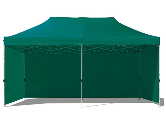 China Green Fabric 3x6 Pop Up Gazebo Pavilion , Aluminium Pop Up Gazebo With Sides factory